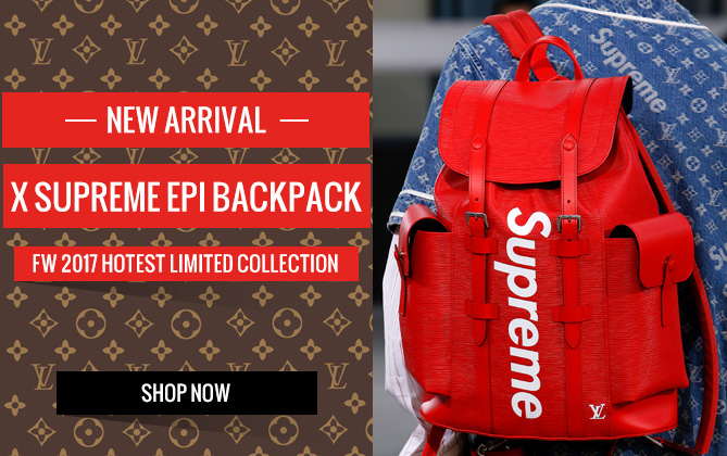 Louis Vuitton X Supreme Epi Backpack