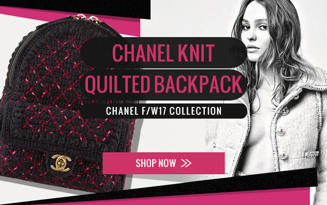 Chanel Knit Backpack A91925 Red