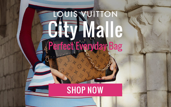 Louis Vuitton City Malle MM M43595 Coffee