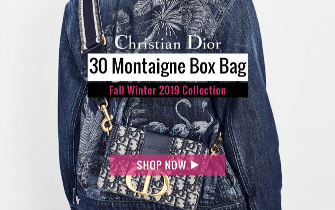 Christian Dior 30 Montaigne Jacquard Canvas Box Bag Dark Blue