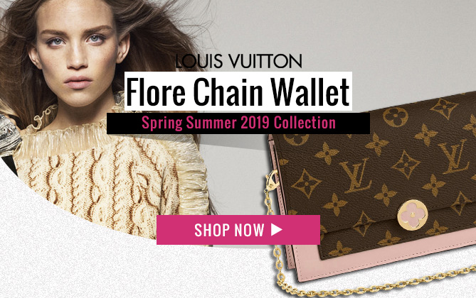 Louis Vuitton Flore Chain Wallet M67404 M67405