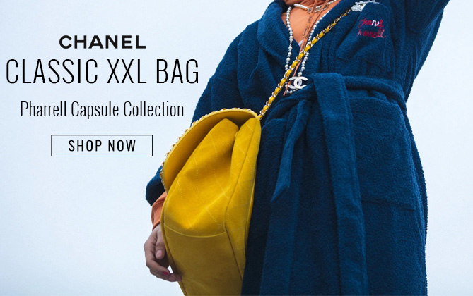 Chanel x Pharrell Suede XXL Quilted Flap Bag